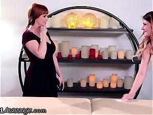 lesbo teenage masseuse Adria Rae