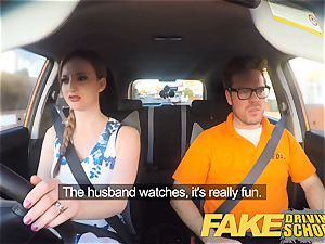 fake Driving school Nerdy ginger-haired teen student