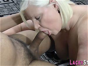 brit grandma sucks cock