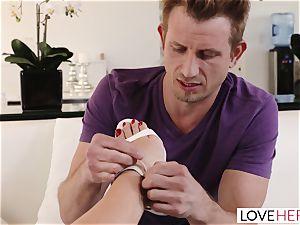 LoveHerFeet - Lusty brit foot nailing Session