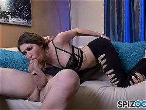 horny Melissa Moore gets her jaws total of cum after stiff fuck