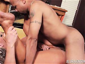 Alura Jenson slammered balls deep and receives steamy warm internal cumshot