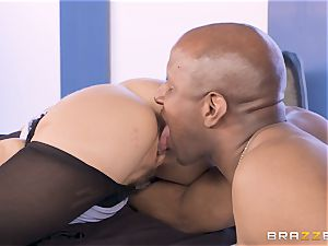 Alexis Fawx torn up by big bbc