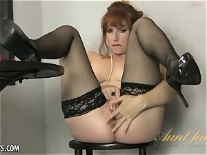 Amber Dawn delectations herself wearing hip highs.