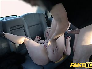 faux taxi towheaded milf Victoria Summers poked in a taxi