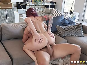 buxom cougar loves to get wild with the help of her valet