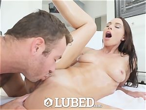 well-lubed filthy screw by torpedo shaft with Aidra Fox