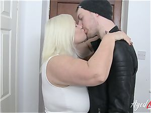 AgedLovE Lacey Starr entices hard-core romp lover