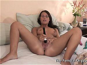 shy nubile strokes Fanny to numerous throbbing orgasms