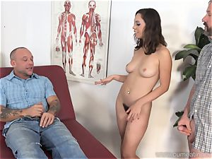 Jade Nile Has Her husband inhale penis and observe Her