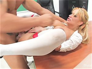Bad student Shyla gets plumbed by her teacher