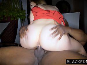 BLACKEDRAW yam-sized knocker milky chick gets dual teamed by BBCs