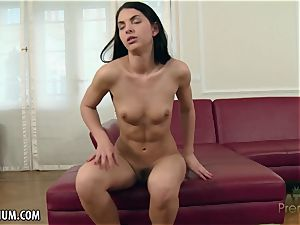 Rose dark-hued thumbs herself to a superb conclude